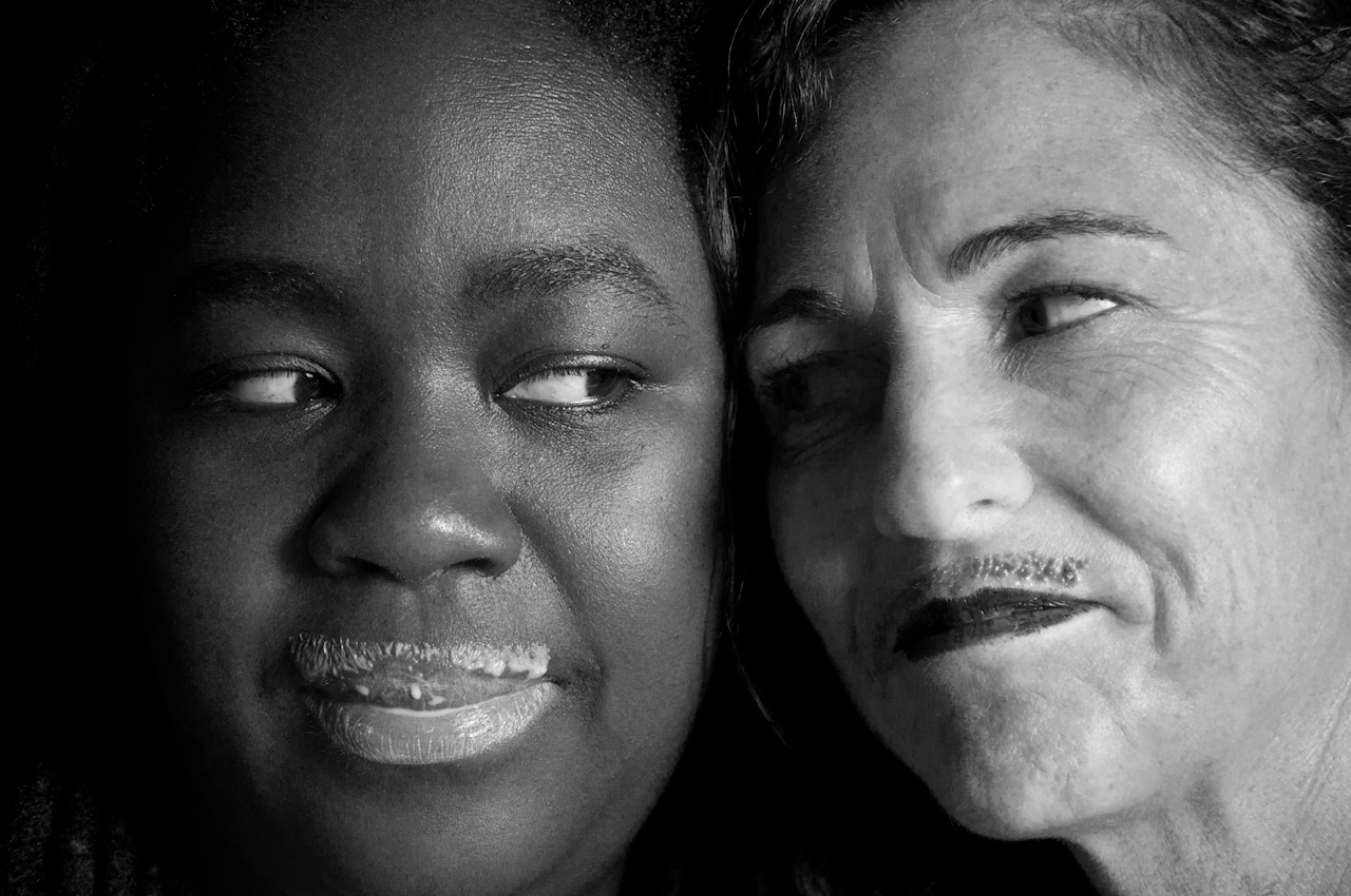 Aisha and Roni baw mustaches-4